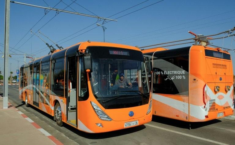 Projet des bus électriques de la ville de Marrakech